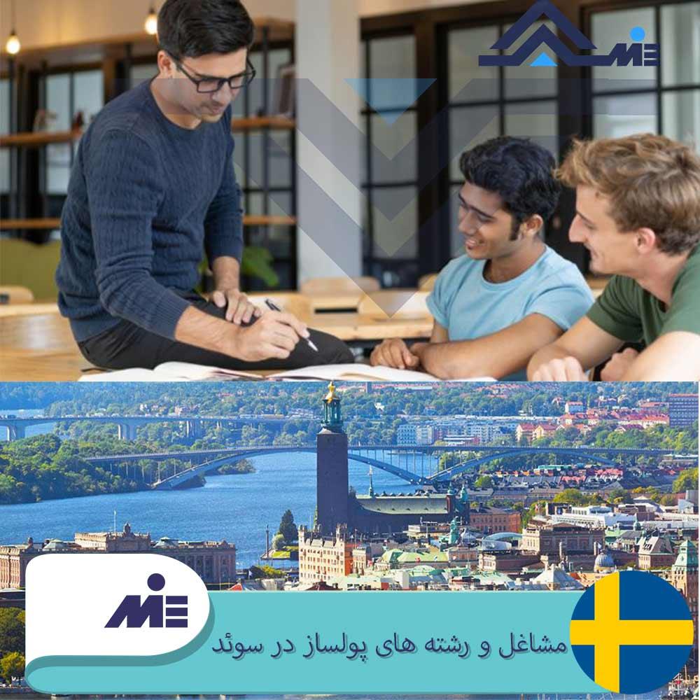 مشاغل و رشته های پولساز در سوئد